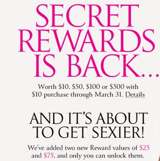 *HOT* Victorias Secret FREE Getaway Bag with $75 Purchase + Secret Rewards are BACK (FREE $10 $500 Gift Card) and Deal Idea!