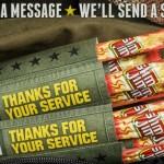 Send a FREE Slim Jim to Troops!