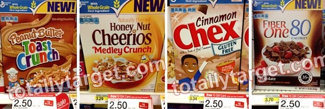 *HOT* Target: General Mills Cereal ONLY $0.10 a Box!