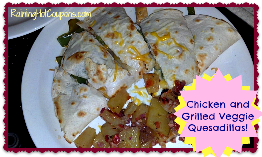 Chicken and Grilled Veggie Quesadillas Main
