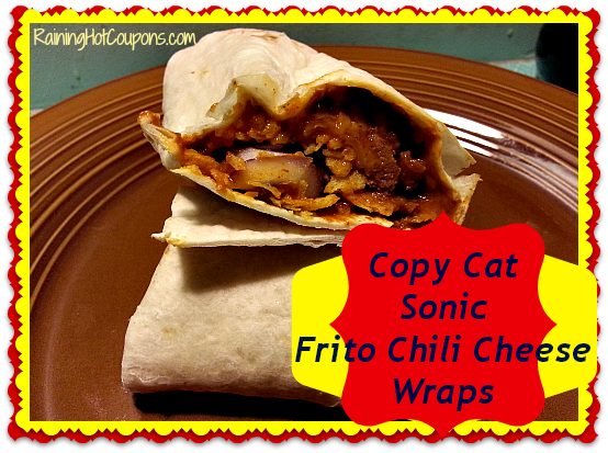 Copy Cat Sonic ~ Fritos Chili Cheese Wraps
