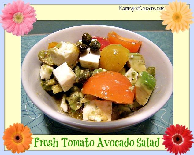 Fresh Tomato Avocado Salad Main