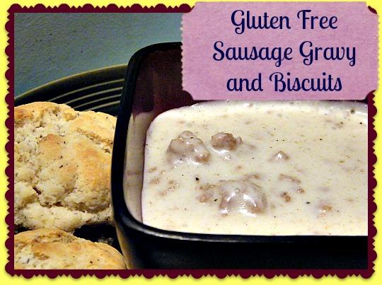 Gluten Free Sausage Gravy and Biscuits Main