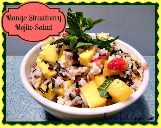 Mango Strawberry Mojito Salad Recipe ~ Bring Summertime to Your Table!