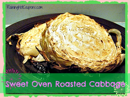 Sweet Oven Roasted Cabbage ~ It's Not Just for St. Patrick's Day Anymore