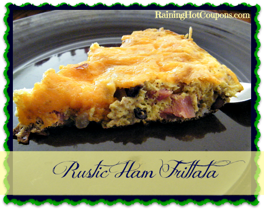 Rustic Ham Frittata Recipe ~ Great Way to Start Your Day!