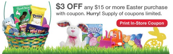 Rare: *HOT* $3 Off $15 Easter Purchase at CVS Coupon!