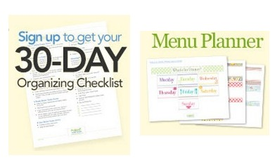 *HOT* FREE 30 day Organizer OR a FREE 30 day Meal Planner