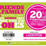 Save 20% off of EVERYTHING at Kohl's 3/15-3/17