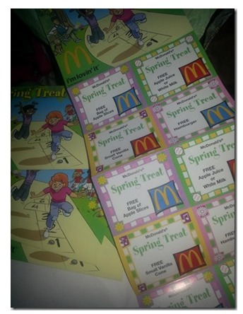 *HOT* McDonalds: $1 Coupon Booklet = 12 FREE Items (Hamburgers, Apples, Milk and More!)
