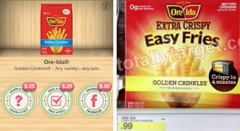 ore ida fries *HOT* FREE Ore Ida Fries at Target, with Ibotta App!
