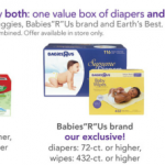 BabiesRUs: Hot Deal on Babies R Us Brand Diapers and Wipes!