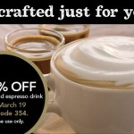 Starbucks Coupon: 50% off any Handcrafted Espresso Drink!