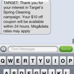Target: $10 off a $40 Purchase Coupon (Text Offer)