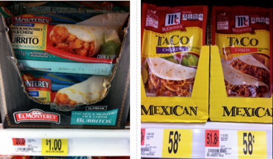 Walmart: FREE McCormick Taco Seasoning AND El Monterey Burritos + Money Maker!