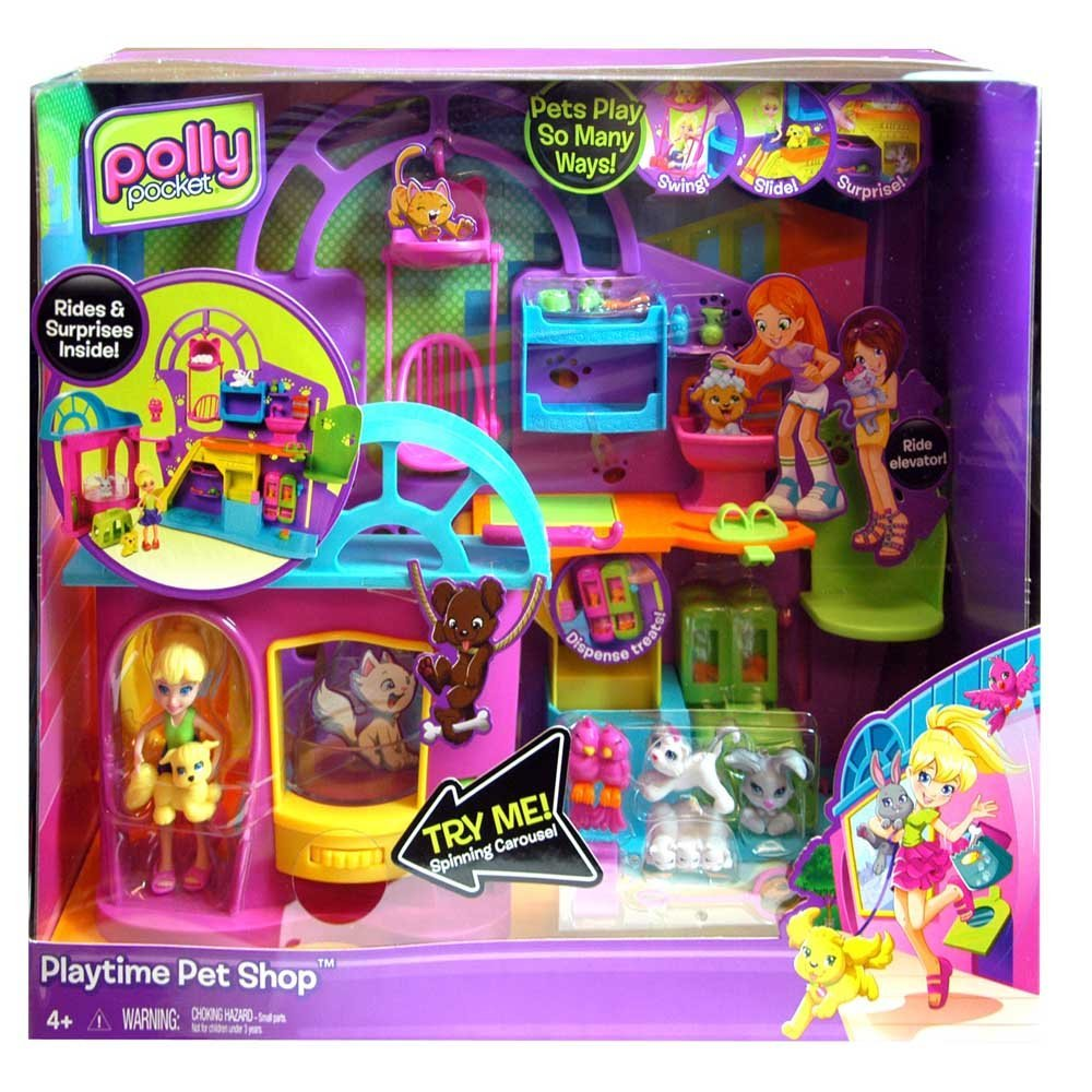 71BuiohmulL. SL1000  Amazon: Polly Pocket Playtime Pet Shop only $15.81! (Reg. $32.99)