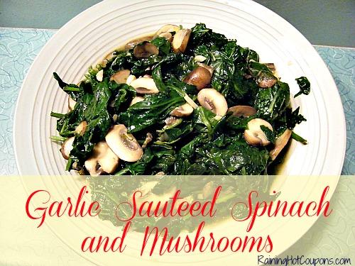 Garlic Sauteed Spinach and Mushrooms Main
