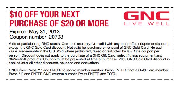 Gnc coupon code