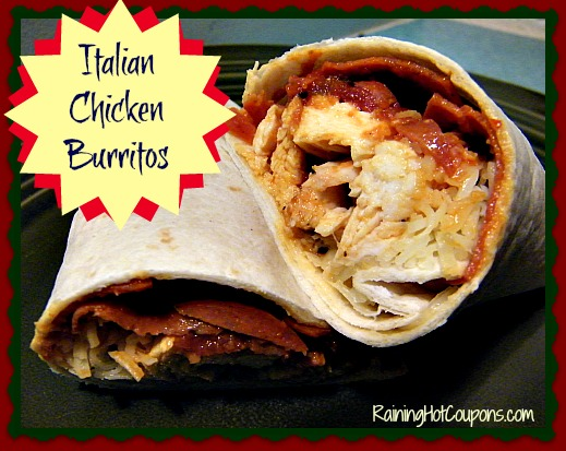 Italian Chicken Burritos Main