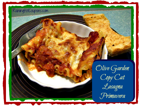 Olive Garden Copy Cat Recipe Lasagna Primavera