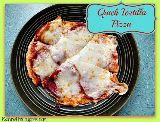 Quick Tortilla Pizza Recipe ~ The Perfect Snack or Meal for One