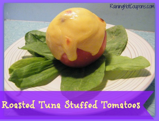 Roasted Tuna Stuffed Tomatoes Main