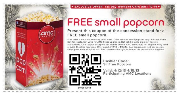 Amc promo coupons