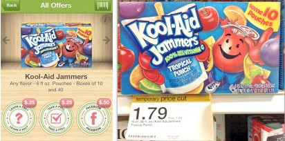 Target: Box of Kool Aid Jammers 10 pk ONLY $0.79!