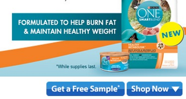 FREE Purina One Smart Blend Metabolism Cat Food sample