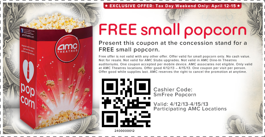 Amc printable coupons
