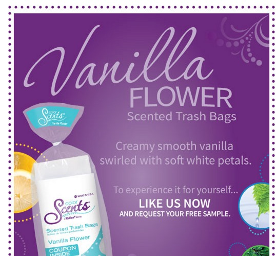 Free Vanilla Flower Scented Trash Bags Sample