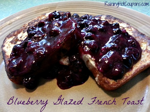 Blueberry Glazed French Toast Main