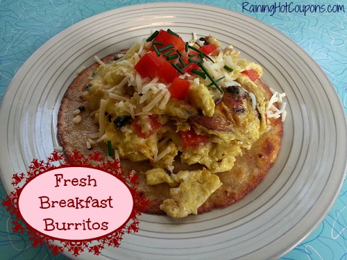 Fresh Breakfast Burritos ~ Who Needs a Drive Thru?