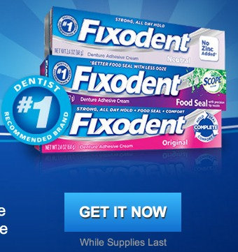 FREE Fixodent Denture Adhesive sample