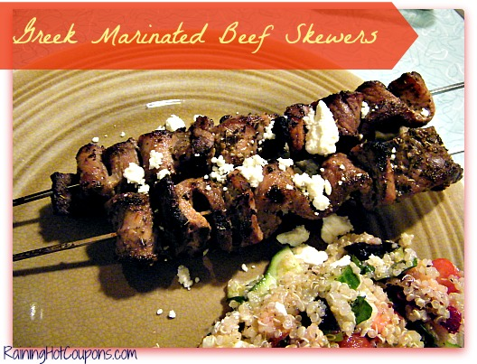 Greek Marinated Beef Skewers Recipe ~ Break out the Grill!
