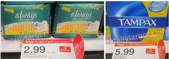 Target: Always Ultra Thin Maxi Pads Only $0 33 a Package