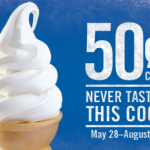 $.50 Ice Cream Cone at Burger King until August 5th
