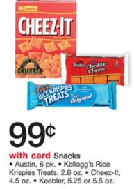 cheez it Cheez It or Keebler Snacks Only  $0.29 at Walgreens!