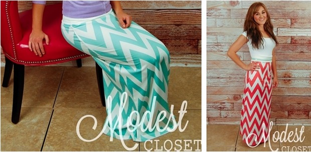 Super Cute Popular Chevron Maxi Skirts Only $19.99!