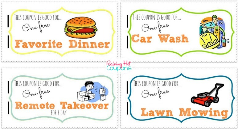 Hot Free Father S Day Printable Coupon Booklet From