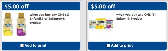 graphic regarding Enfamil Printable Coupons $10 named Very hot* Superior Truly worth $10/1 and $5/1 Enfamil Formulation Coupon \u003d No cost