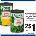 FREE Green Giant Vegetables at Kroger