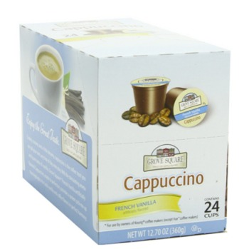 Amazon Grove Square French Vanilla Cappuccino K Cups 24ct