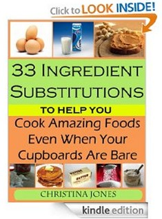 Amazon: FREE 33 Ingredient Substitutions To Help You Cook Amazing Foods Ebook