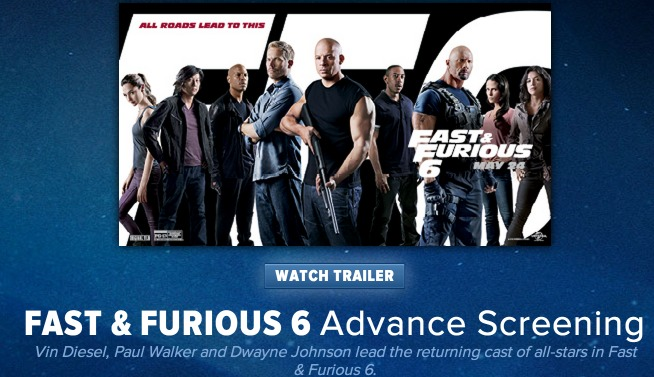 FREE Fast & Furious 6 Movie Screening Tickets! (Select States)