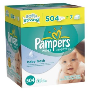 pamperswipes 300x300 Pampers Softcare Baby Wipes 504 Count $10.47