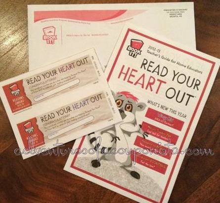 Pizza Hut Book It Program: 18 FREE Personal Pan Pizza Vouchers (Homeschoolers)