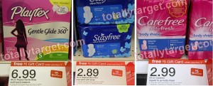 playtex target 300x121 Target: Stayfree Ultra Thin Maxis Only $0.22!