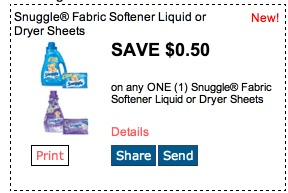 Snuggle Dryer Sheets Only $0.50 a Box at Dollar General with New Coupon!