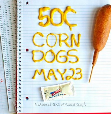 Sonic: Corn Dogs Only $0.50!